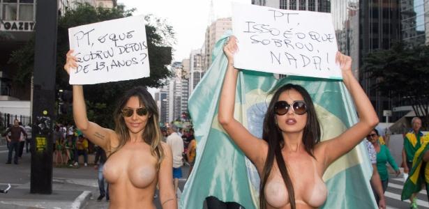São Paulo: manifestantes protestaram bem 'à vontade' - Kevin David/Brazil Photo Press/Estadão Conteúdo