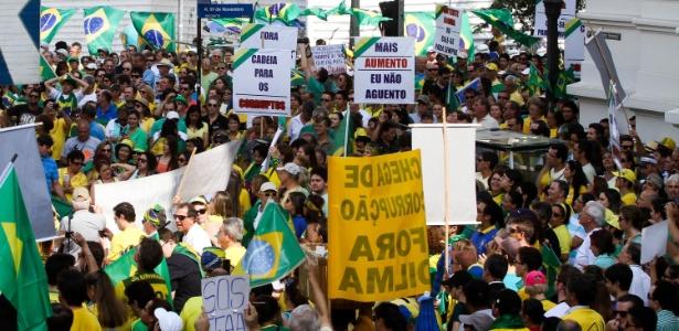 Curitiba: protesto com 40 mil pessoas termina; novo ato será dia 29 - Vagner Rosario/Futura Press/Estadão Conteúdo