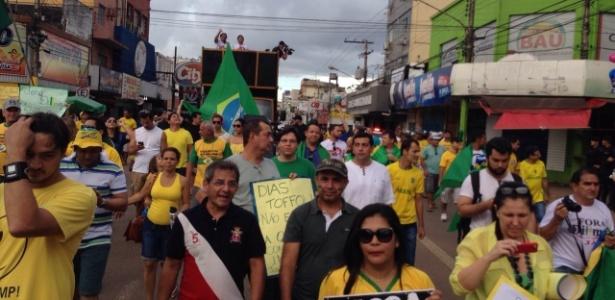 Porto Velho: 1.200 participaram de protesto contra a presidente Dilma - Sizenildo Figueiredo/via WhatsApp