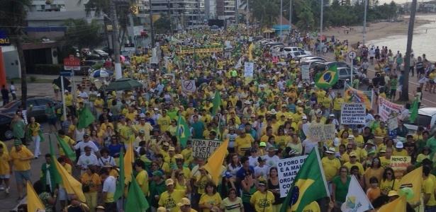 18h: protestos contra Dilma reúnem cerca de 560 mil em 24 Estados e no DF - João Prudêncio/via WhatsApp