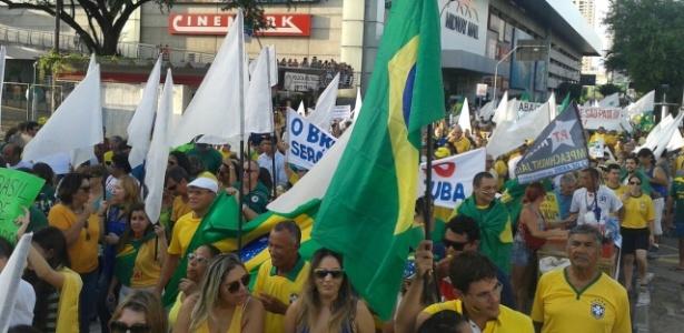 Natal: 5.000 protestam, segundo a Secretaria de Segurança  - Linesio Duarte Filho/via WhatsApp