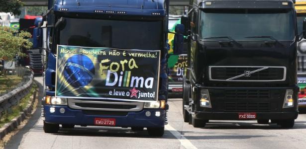 São Paulo: caminhoneiros são liberados para ir ao centro da cidade - Marcos Bezerra;/Futura Press/Estadão Conteúdo