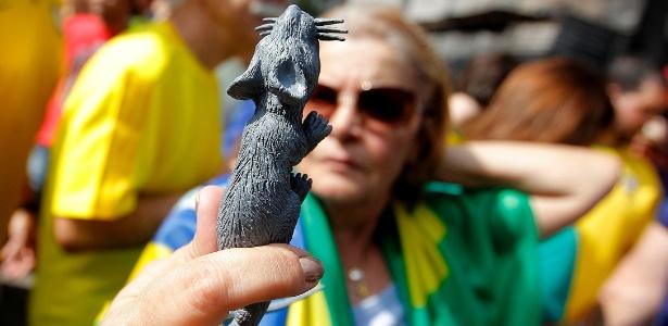 Após 'protagonizarem' sessão de CPI, roedores viram sensação em protestos - Reinaldo Canato/UOL
