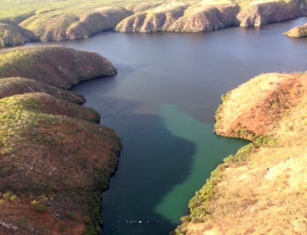 Mancha negra nas águas do rio São Francisco, entre os Estados de Sergipe e Alagoas - Ermi Ferrari/IMA/Divulgação