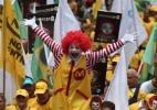 Protesto de trabalhadores do McDonald