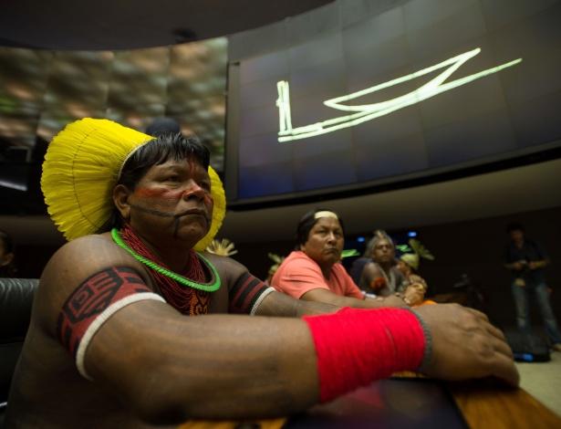 Indígenas participam de sessão solene na Câmara dos Deputados em homenagem ao Dia do Índio - Geraldo Magela/Agência Senado