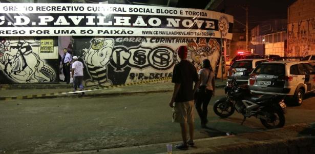 Oito pessoas morrem em chacina na sede da Pavilhão 9, organizada do Corinthians - Edison Temoteo/Futura Press