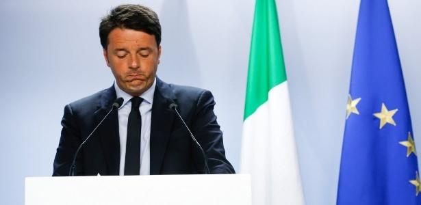 O primeiro-ministro italiano Matteo Renzi