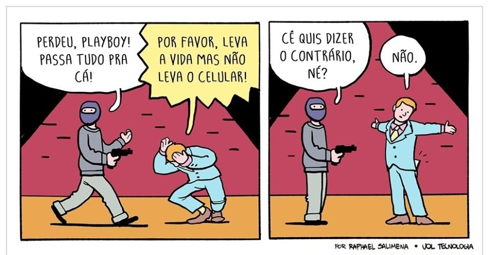 "25.abr.2015 - ""Perdeu"""