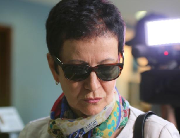 28.abr.2015 - Marice Correa de Lima, cunhada do ex-tesoureiro do PT João Vaccari Neto, chegou no começo da tarde desta terça-feira (28) à Superintendencia da Policia Federal para acareação com o doleiro Alberto Youssef