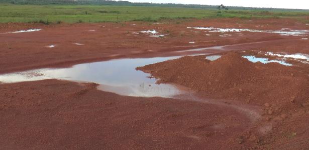 Parte da área que foi aterrada para construção da refinaria da Petrobras no Maranhão