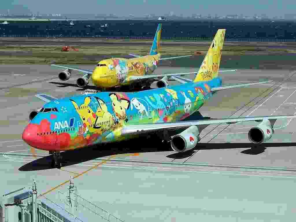Mais aviões decorados com Pokémons, da All Nippon Airways (ANA) - Suoh Sato/Flickr