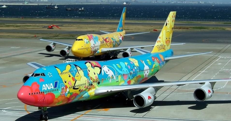 Mais aviões decorados com Pokémons, da All Nippon Airways (ANA)