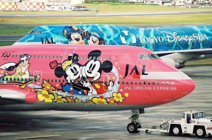 Personagens da Disney ilustram os aviões da Japan Airlines (JAL)