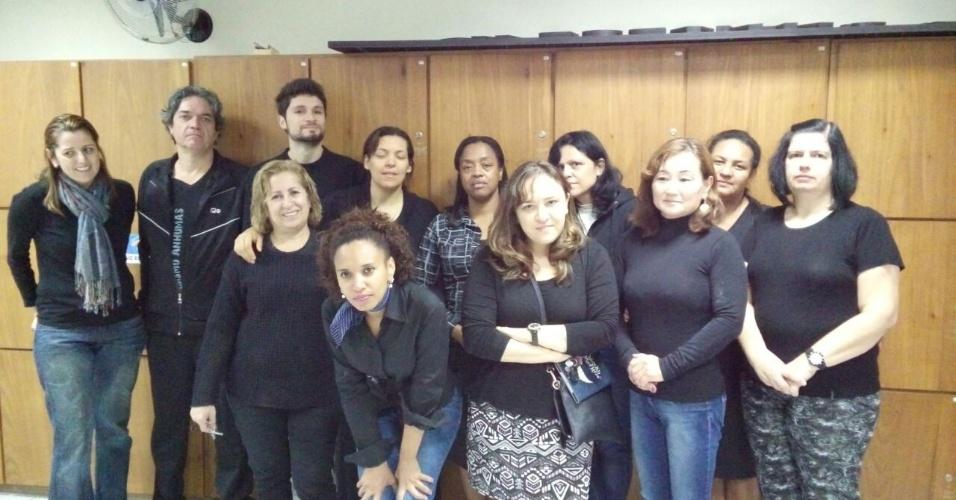 Professores da E.E. Salvador Moya, em São Paulo (SP)