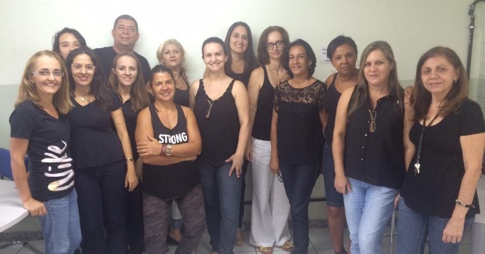 Professores da EEEFM Desembargador Carlos Xavier Paes Barreto, em Vitória (ES)