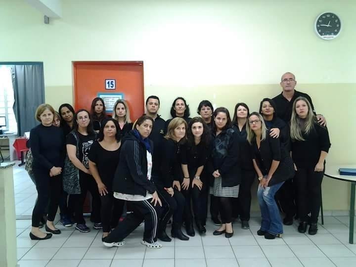 Professores da EMEF Maria Aparecida Vilasboas, em São Paulo (SP)