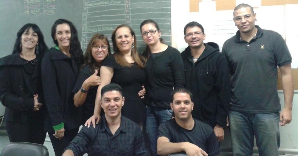 Professores da EMEF Prefeito Adhemar de Barros - Bairro do Campo Limpo, em São Paulo (SP)