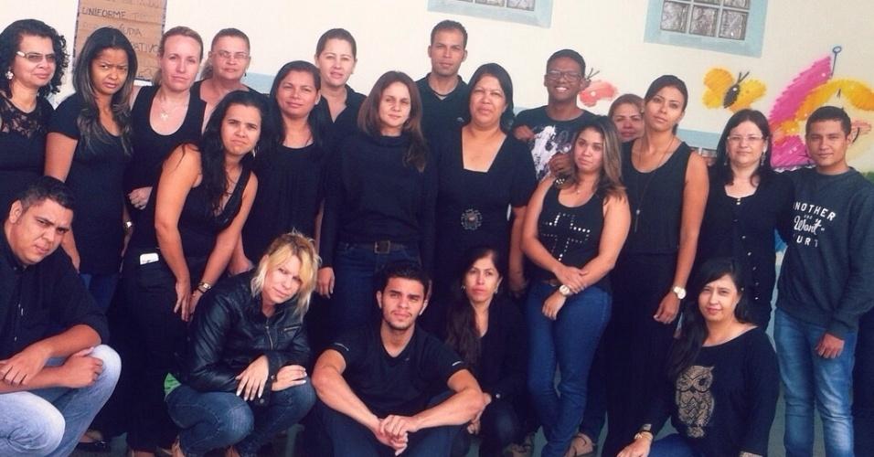 Professores da Escola Classe 215, de Santa Maria (DF)