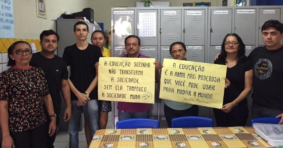Professores da Escola Estadual Maurício Freire, em São Paulo do Potengi (RN)