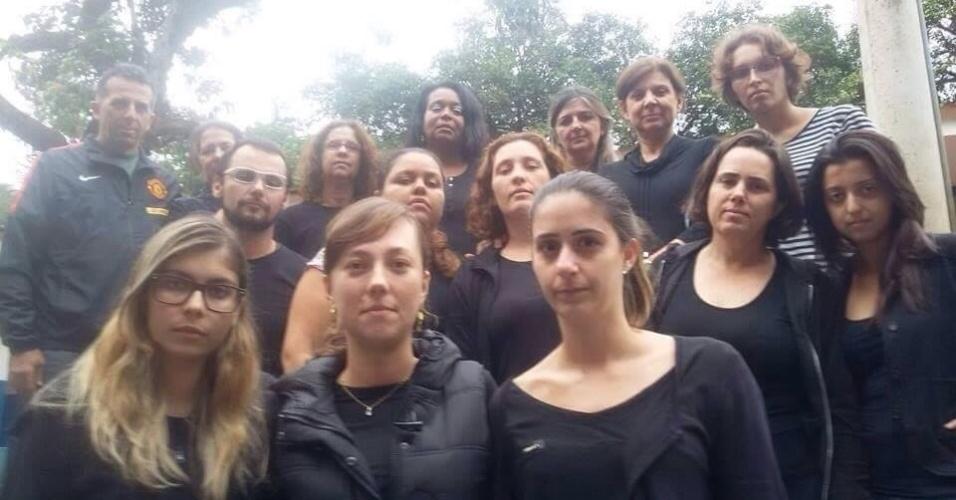 Professores da Escola Municipal João Alves dos Santos, em Campinas (SP)