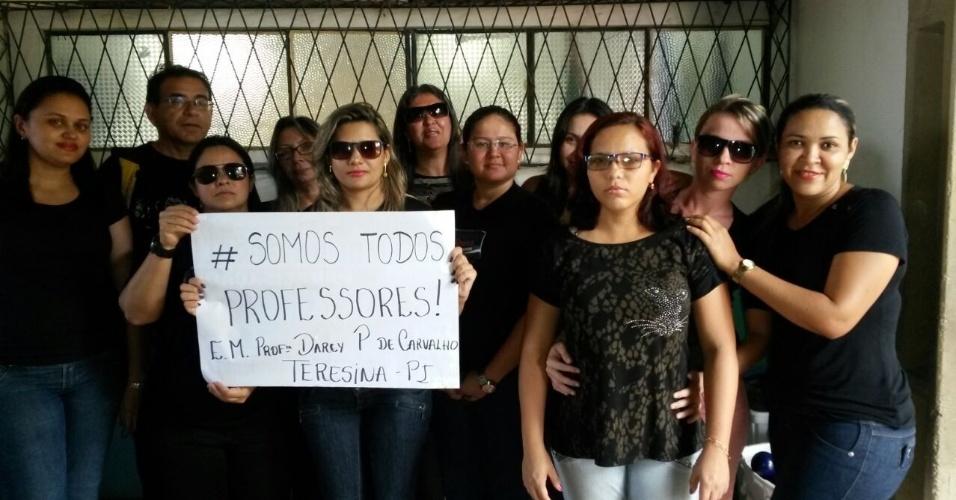 Professores da Escola Municipal Professora Darcy Pereira de Carvalho em Teresina (PI)