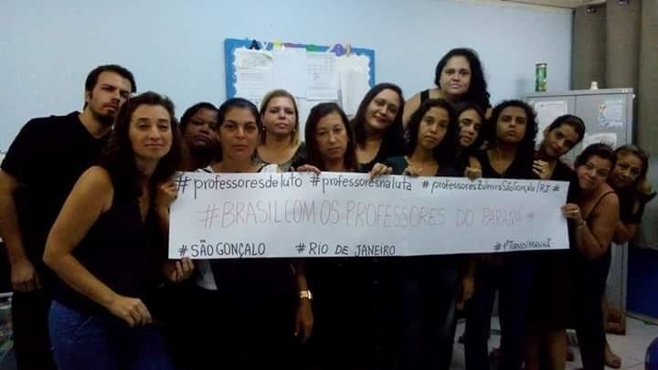 Professores da rede municipal de São Gonçalo (RJ)