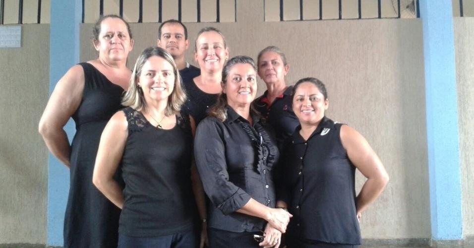 Professores do Colégio Estadual do município de Palminópolis (GO)