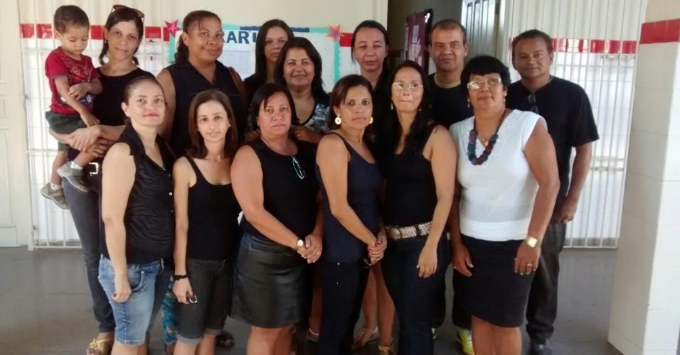 Professores do Colégio Estadual Dom Juvêncio de Brito - Canindé de São Francisco, sertão de Sergipe