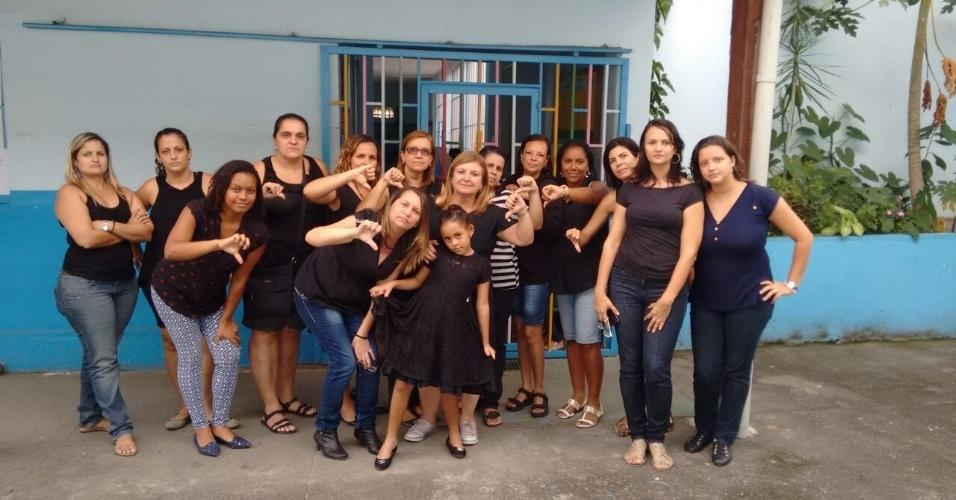 Professores do Jardim de Infância Menino Jesus, em São Gonçalo (RJ)