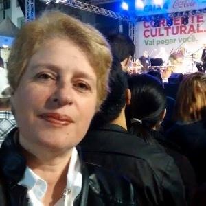 Íria Mara de Marco Silva, 51, teve diagnóstico positivo para síndrome de burnout. Na foto, feita no ano passado, a hoje professora aposentada por invalidez assiste a um show em Curitiba (PR) - Arquivo Pessoal