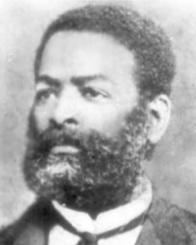 """Luís Gama, em retrato de 1880, de autor desconhecido. Como advogado, Gama conseguiu libertar mais de 500 escravos. Desenvolveu também uma intensa atividade abolicionista no jornalismo. Ao lado de Angelo Agostini, fundou o jornal satírico """"Diabo Coxo"""", pioneiro da imprensa humorística no Brasil"""