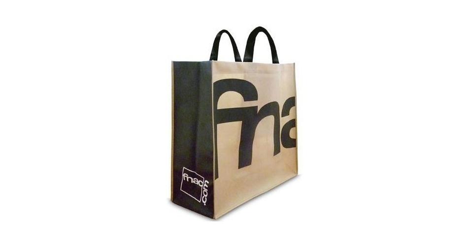 """A ecobag da Fnac tem """"selo ecológico"""" e capacidade para até 18 quilos. À venda na Fnac por R$ 6"""