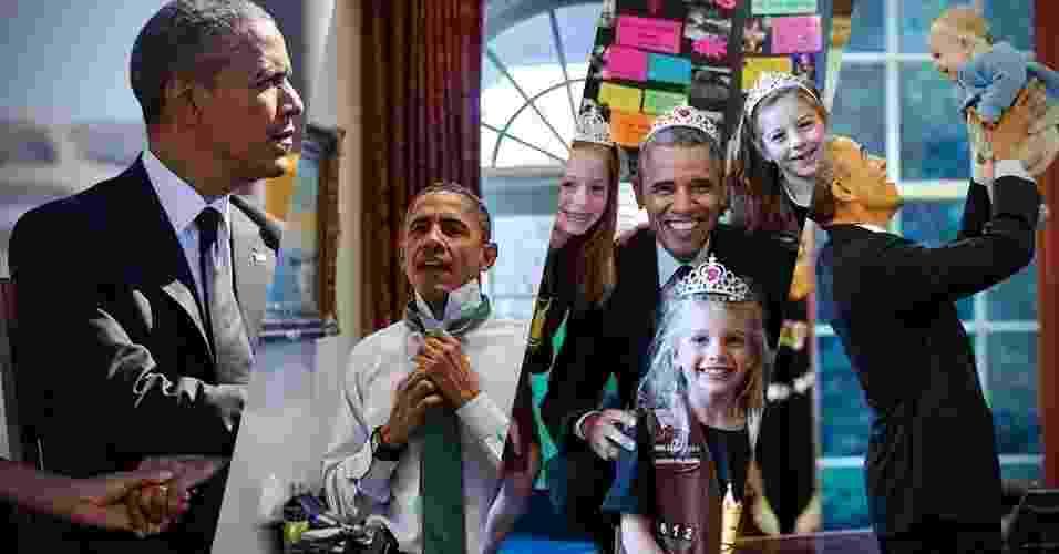 Tem o Obama brincando com um bebê, ajeitando a gravata, andando com o vice-presidente Joe Biden, tirando foto 'de princesa' e por aí vai. Todas essas imagens inusitadas foram captadas pelo fotógrafo chefe da Casa Branca, Pete Souza, e postada em seu Instagram (@petesouza) - Arte UOL