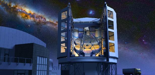 O Giant Magellan Telescope (GMT) está previsto para ser o primeiro supertelescópio a entrar em atividade. Ainda sem estar totalmente terminado, deverá começar a funcionar em 2021. A meta é, no ano seguinte, estar totalmente operacional, com 100% de sua capacidade - Divulgação
