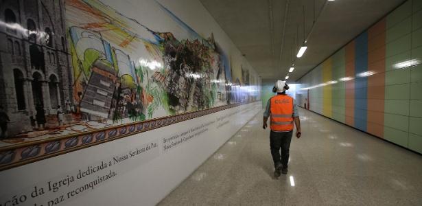 A Linha 4 de metrô foi inaugurada pouco tempo antes das Olimpíadas, em 2016