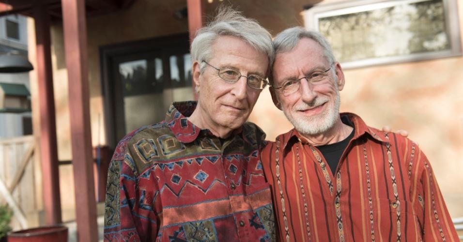 Jack Baker e Michael McConnell, que casaram em 1971 nos EUA