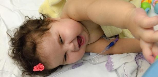 A bebê Sofia, que passou pelo transplante de cinco órgãos nos EUA