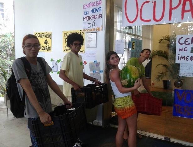 Estudantes ocupam a reitoria da UFRJ (Universidade Federal do Rio de Janeiro)