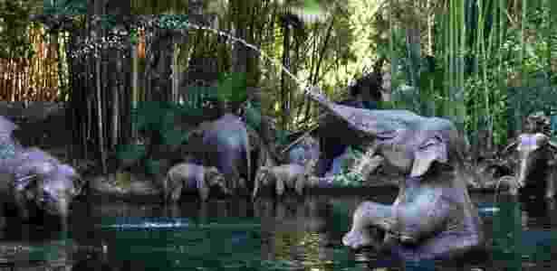 Atração da Disneylândia, na Califórnia, que faz amplo uso da água - Divulgação via The New York Times