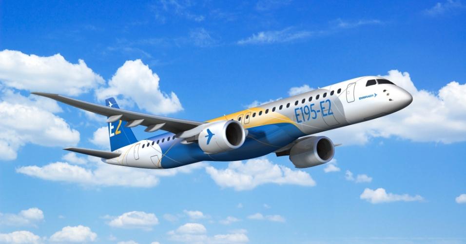 Avião E195-E2 da Embraer