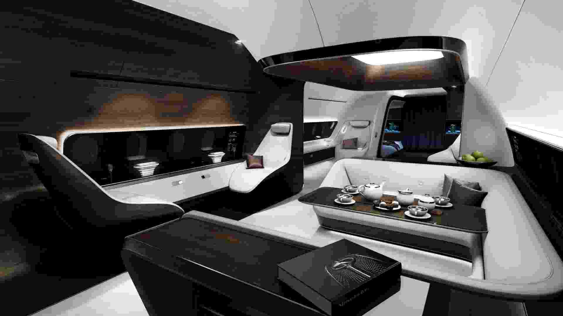 Avião de luxo da Mercedes-Benz em parceria com a Lufthansa - Daimler/Mercedes Benz