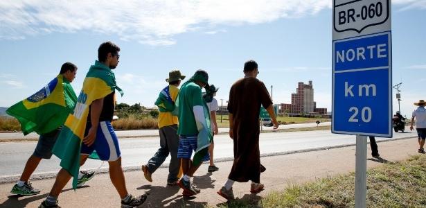 Integrantes do MBL durante marcha a Brasília em 2015