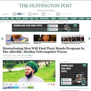 """""""Mãos grávidas após a morte"""", diz o religioso Mücahid Han sobre masturbação - Reprodução/Huffington Post"""