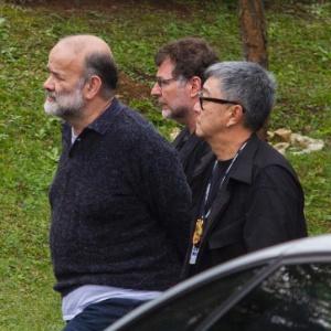 Ex-tesoureiro do PT João Vaccari Neto (à esquerda)