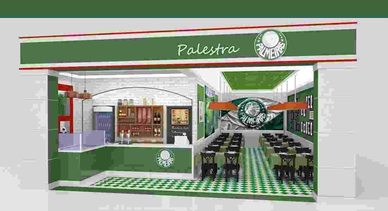 Franquia de fast-food do Palmeiras, lançada pelo clube em parceria com a empresa SportFood - Divulgação