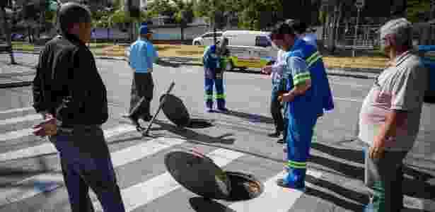 Questionada pela reportagem, a Sabesp não informou quais obras serão paralisadas -  Bruno Santos/ Folhapress