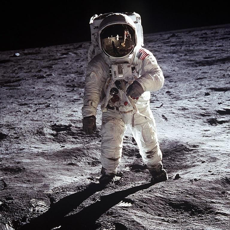 O astronauta Buzz Aldrin, o segundo homem a pisar na Lua, em missão da Apollo 11