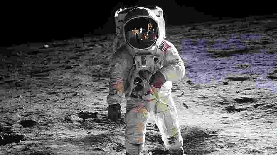 O astronauta Buzz Aldrin, o segundo homem a pisar na Lua, em missão da Apollo 11 - Nasa