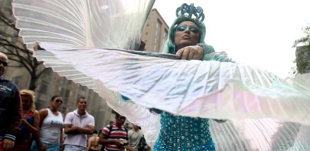 A 19ª edição da Parada Gay lota a região da avenida Paulista - Felipe Rau/Estadão Conteúdo
